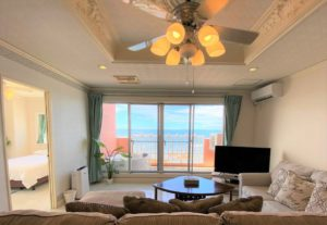Fully Furnished 4BR unit with a great ocean view!